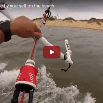 How to LAND a kite by yourself on the beach by Dimitri Maramenides