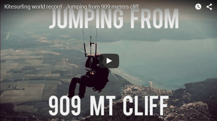 World record - Jumping from 909 meters cliff