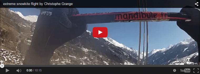 Extreme Snowkite flight by Christophe Grange