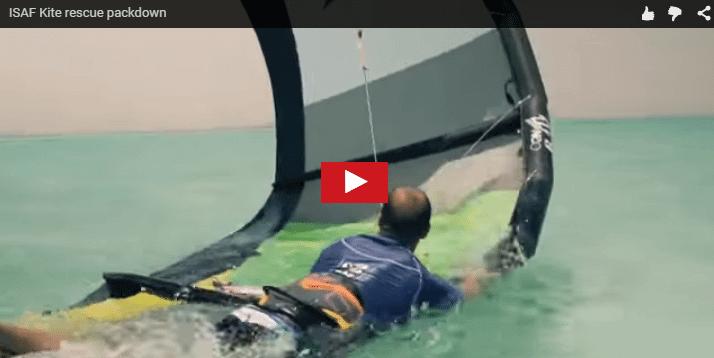 Maniobra de rescate para recoger el kite
