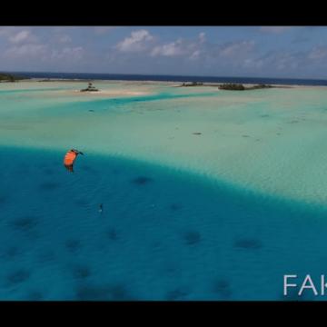 Kiteboarding in paradise! French Polynesia, Fakarava